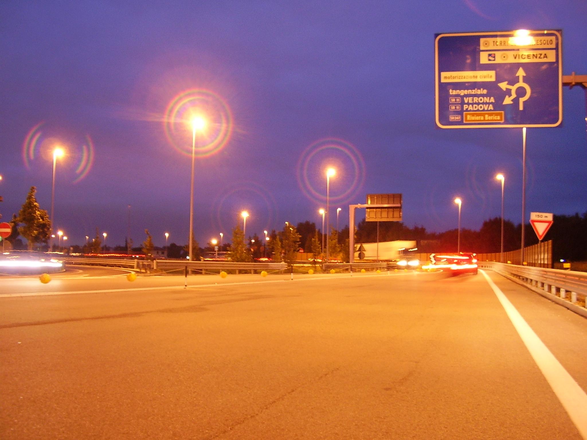 Illuminazione Tangenziale di Vicenza